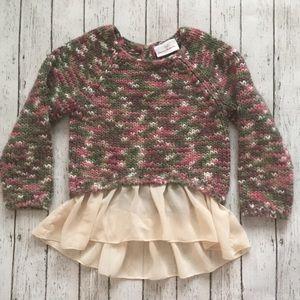 Hannah Anderrson Ruffle Trim Sweater